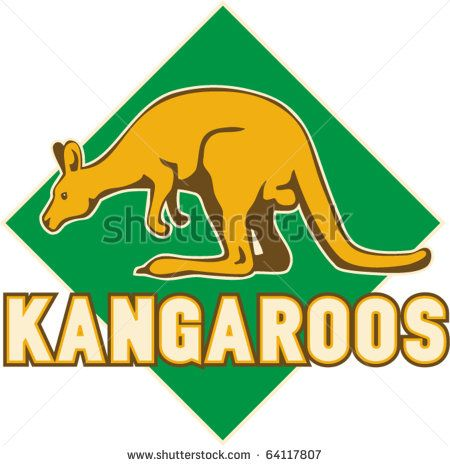 vector illustration of a kangaroo side view set inside a shield suitable for any sports sporting club team mascot - stock vector #kangaroos #retro #illustration