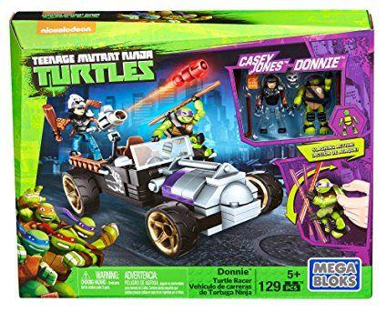 Mega Bloks - Vehículos de carreras, tortugas ninja, juego de construcción (Mattel DMX52)