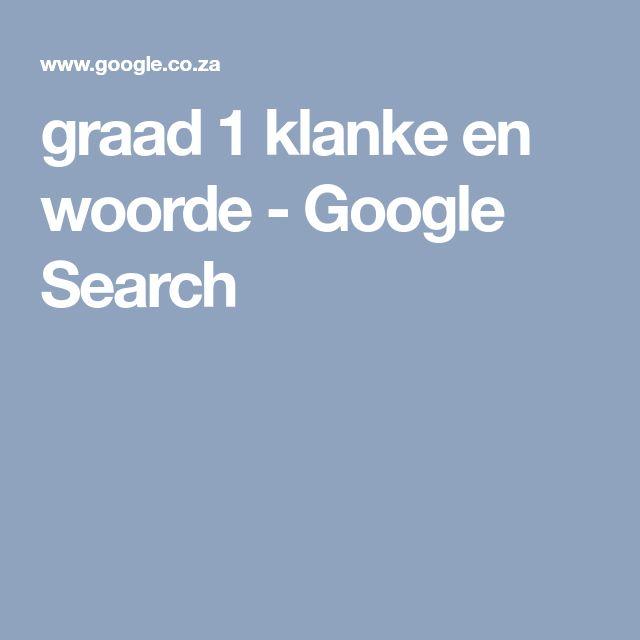 graad 1 klanke en woorde - Google Search
