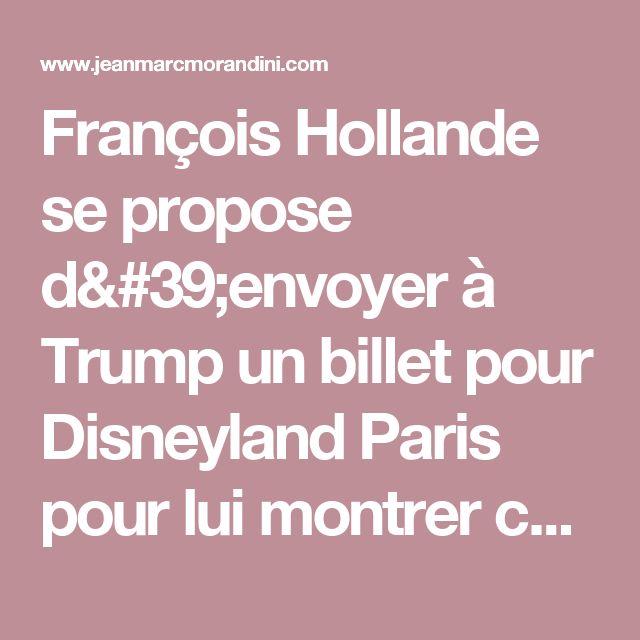 François Hollande se propose d'envoyer à Trump un billet pour Disneyland Paris pour lui montrer ce qu'est la France