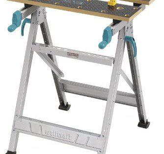 Wolfcraft Master 200 Etabli et table de serrage universel Charge maximale 180 kg: Réglage du plateau avant par 2 manivelles ergonomiques…