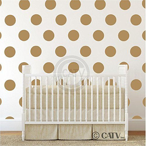 6x6 Set of 24 Polka Dot Circles vinyl lettering decal home decor wall art saying (Gold) Vinyl Lettering Wall Decals http://www.amazon.ca/dp/B00S6YHB0Y/ref=cm_sw_r_pi_dp_LrTfvb14Q8K5H
