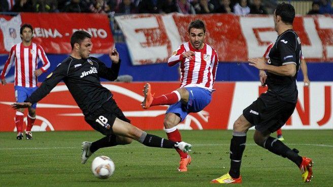 Víctor Ruiz & Adil Rami. Atlético de Madrid-Valencia. Resultado final 4-2