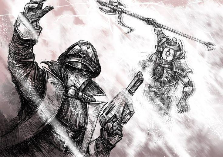 Warhammer 40000,warhammer40000, warhammer40k, warhammer 40k, ваха, сорокотысячник,фэндомы,Death Korps of Krieg,Astra Militarum,Imperial Guard, ig,Imperium,Империум,Commissar (wh 40000),Necron Lord,Necrons