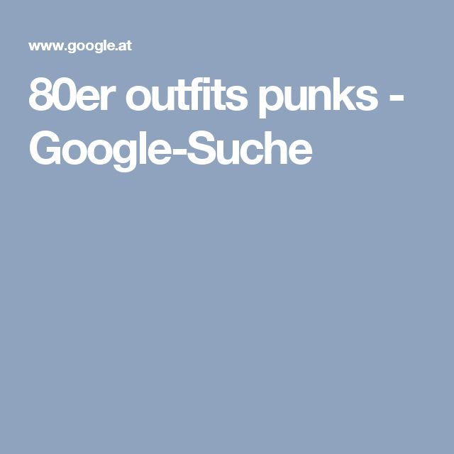 80er outfits punks - Google-Suche