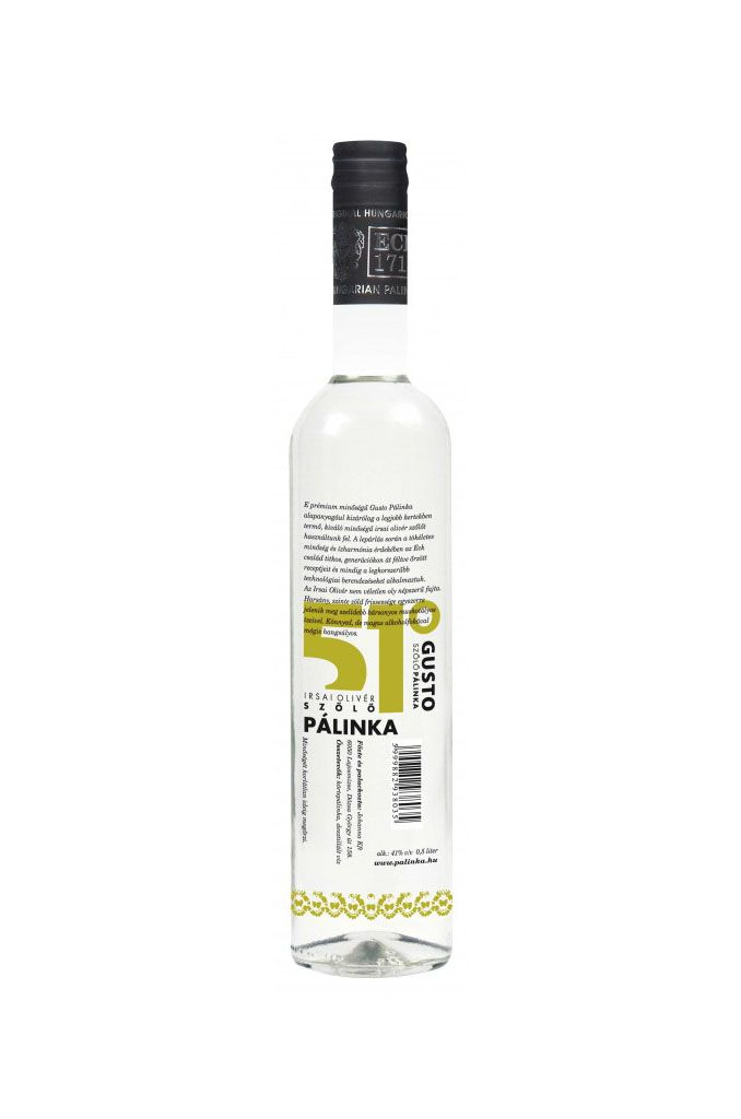 "Gusto ""Irsai Olivér"" Szőlő Pálinka - #hungarian premium #grape #schnapps"