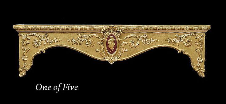 Five Rococo-Style Giltwood Window Cornices                              …
