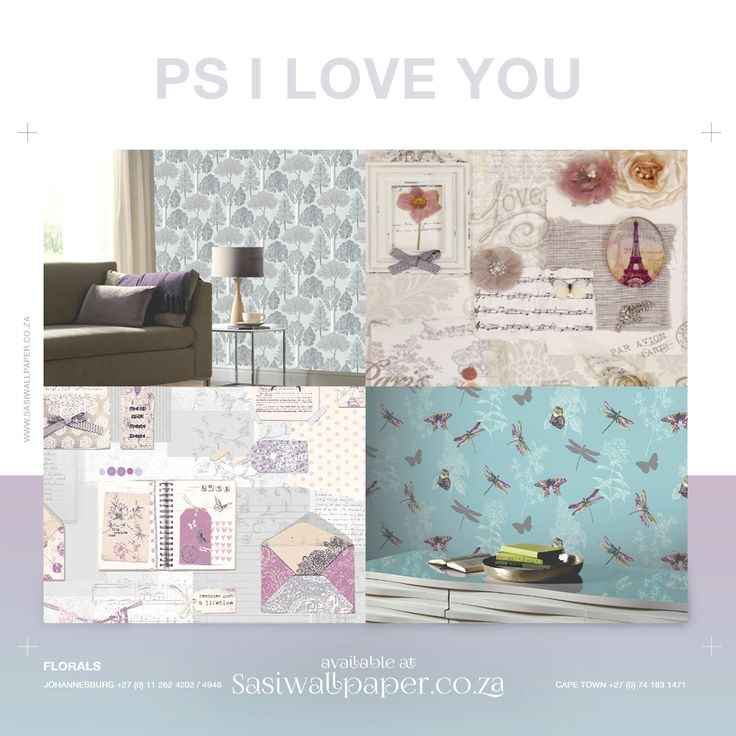 This fantastic new design has elegant scroll writing, musical notes and colourful bunting with vintage envelopes on a lilac background. Shop now: http://ow.ly/OdUQ302UzlJ #SasiWallpaper