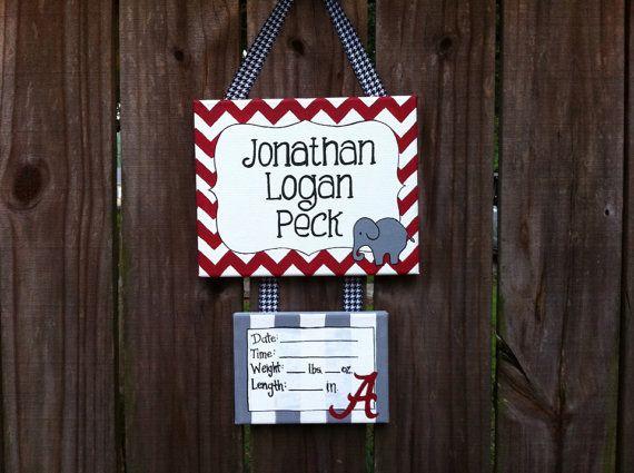 Alabama hospital door, nursery, baby's room sign on Etsy, $30.00