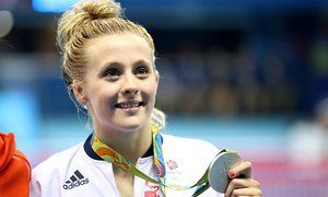 Siobhan-Marie O'Connor with her silver medal.