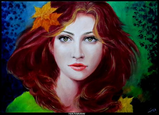 paradise... oil painting on paper by rainNsunshine