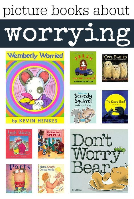 Books about worrying for kids. Books can help kids understand their feelings. A list of picture books about worrying: Heard about this through /abbypediatricot/