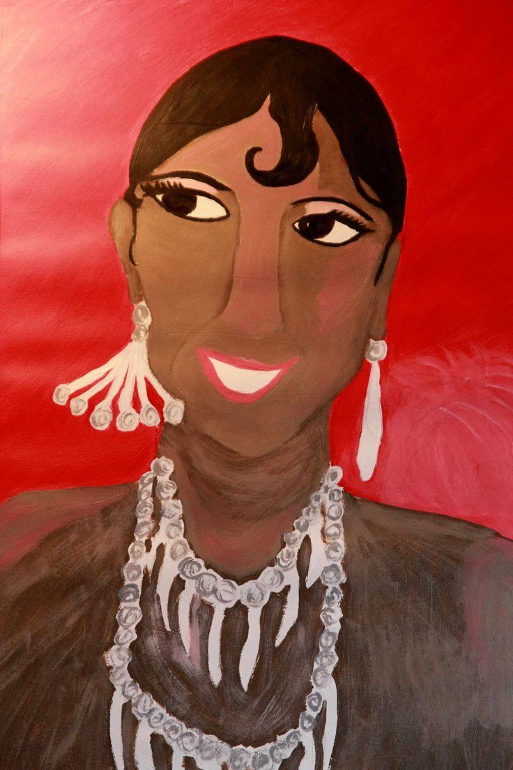 Portraitgemäle Joséphine Baker aus meinem Atelier