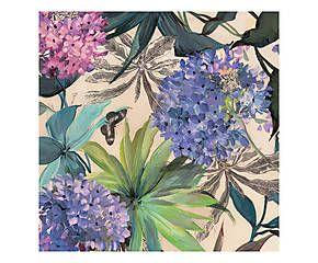 Stampa fine art su canvas con telaio in legno Lilac Hydrangeas - 50x50x4 cm