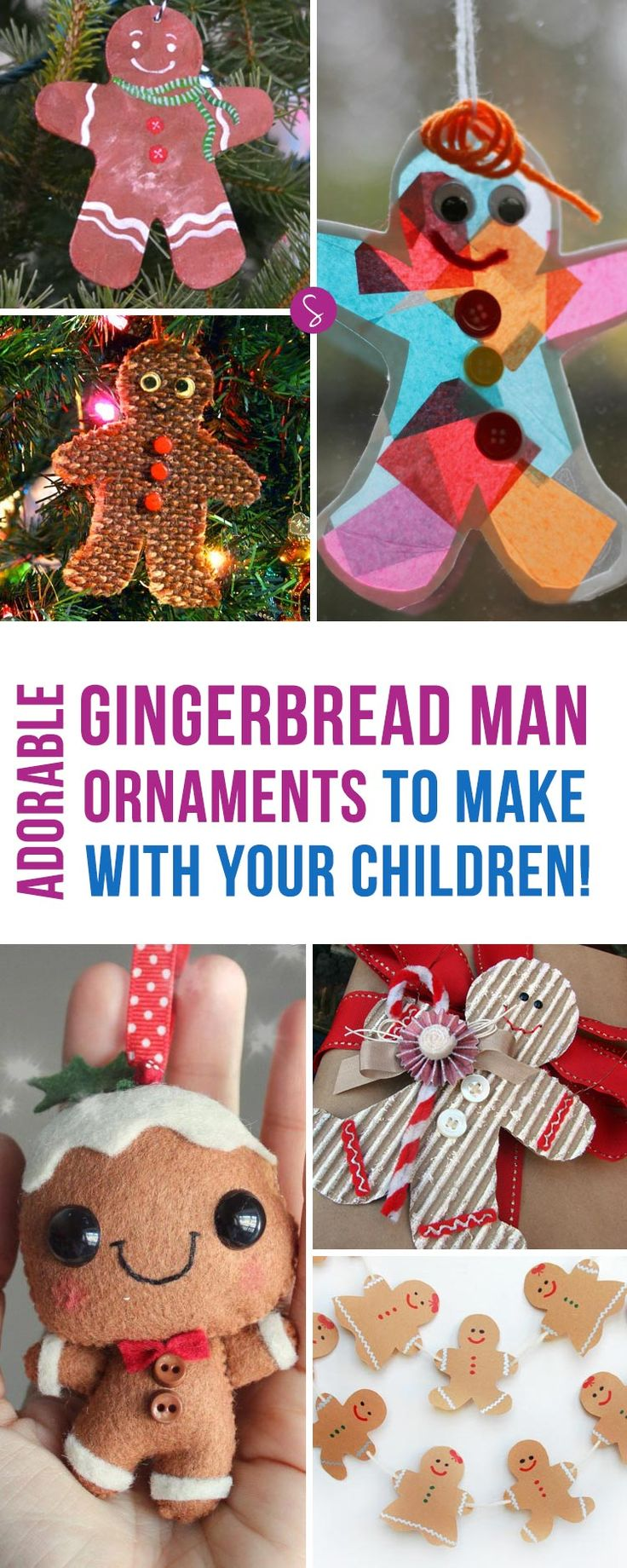 Easy christmas ornaments for kids to make - Adorable Gingerbread Man Ornaments For Kids To Make