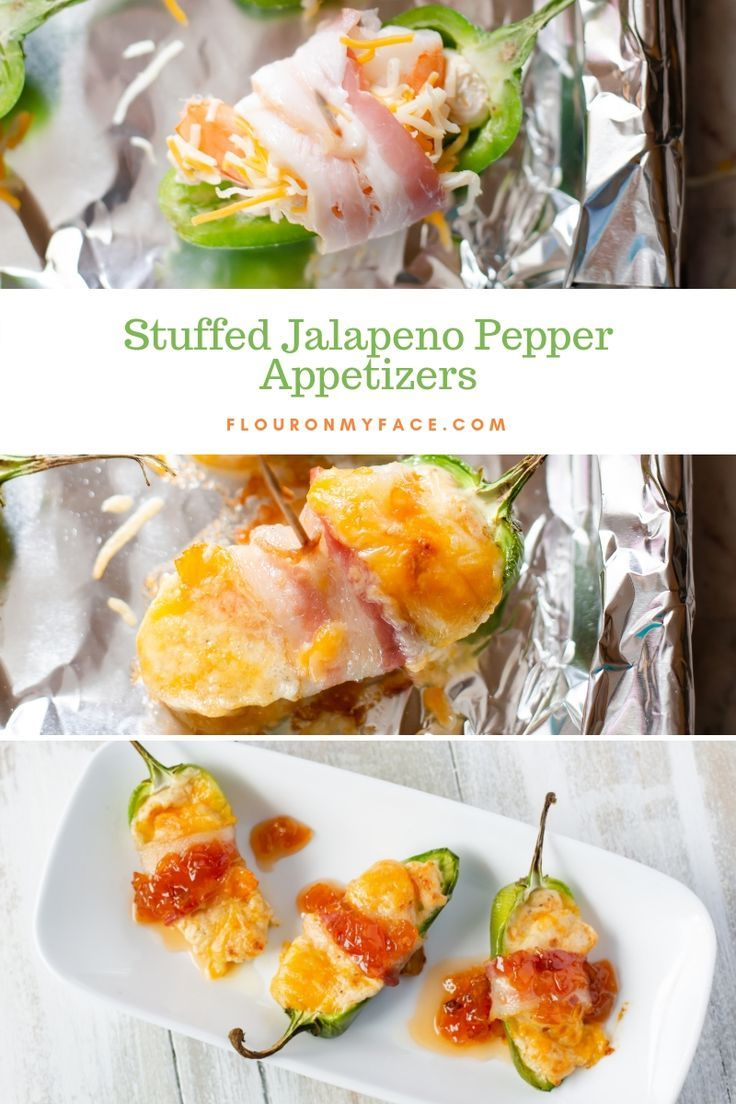Shrimp Stuffed Bacon Wrapped Jalapeno Peppers Recipe Stuffed Peppers Appetizer Recipes Stuffed Jalapeno Peppers