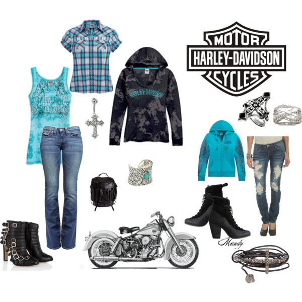 Harley Davidson, created by mandy-nelson-lee.polyvore.com  On any given weekend, my fashion statement!