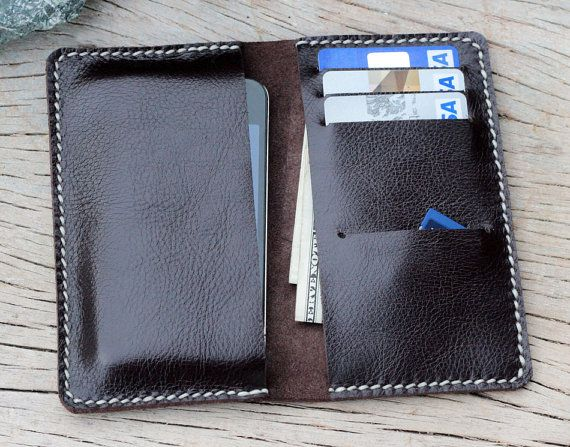Soil brown contrast cream wax cord iphone wallet by SakatanLeather, $37.00