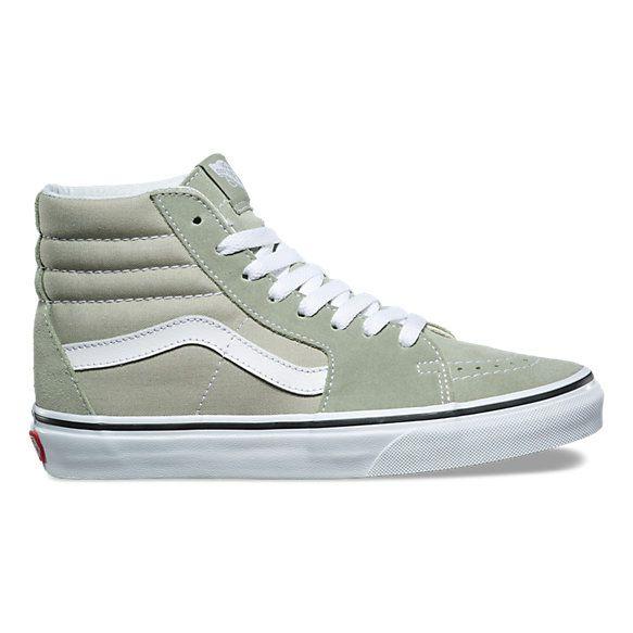 54f372188eb02 SK8-Hi - Sage Green - Vans