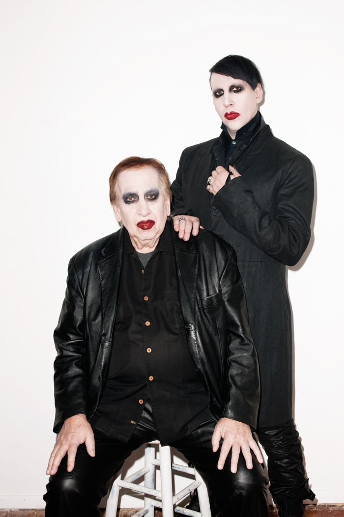 Manson with his father, Hugh Warner. /PAPERMAG Photographed by Terry Richardson