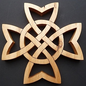 Beautiful Wooden Celtic Cross, which can be used as a Trivet or a Potholder. Handmade in UK by talented sellers on WowThankYou
