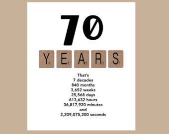 70th Birthday Card The Big 70 Milestone by DaizyBlueDesigns