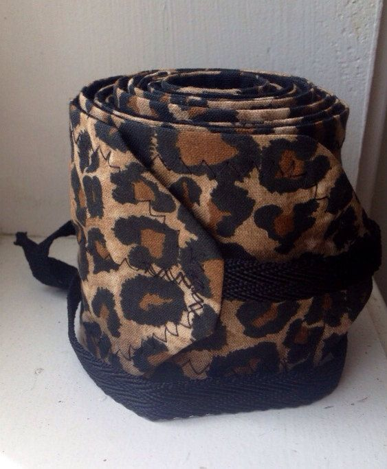 Brown and Black Cheetah Print Crossfit Wrist Wraps by superphine, $15.00