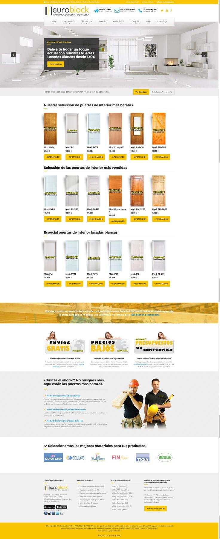 Puertas Euro-Block: http://www.puertas-euro-block.com es otro de nuestros grandes clientes con un gran volumen de ventas y una pagina acorde a sus necesidades. Aqui os la dejamos