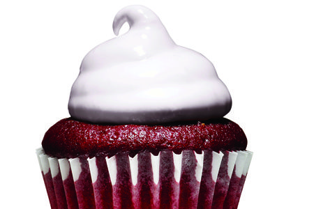 Diet friendly desserts. 93 calories for three red velvet cupcakes?? Heaven.