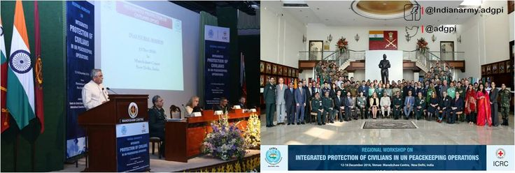 Centre for United Nations Peacekeeping (CUNPK) organised a   Regional workshop on Integrated Protection of Civilians in UN  Peacekeeping http://Opspic.twitter.com/pXyTka4Pct #IndianArmy #Army