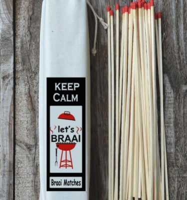 Braai Matches - Keep Calm and Braai