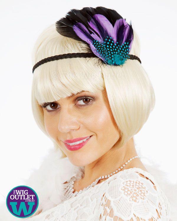 Blonde flapper wig can't chop