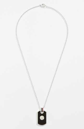 gucci bags nordstrom. a rich sterling glow defines classic dog tag detailed with fine enamel. color(s): black style name: gucci enamel necklace. bags nordstrom
