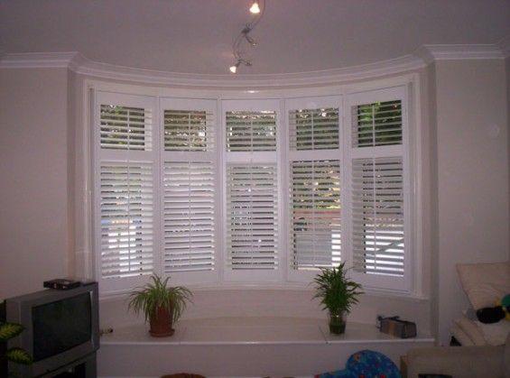 1930's Bay Window Shutters Installed Using 5 Frames