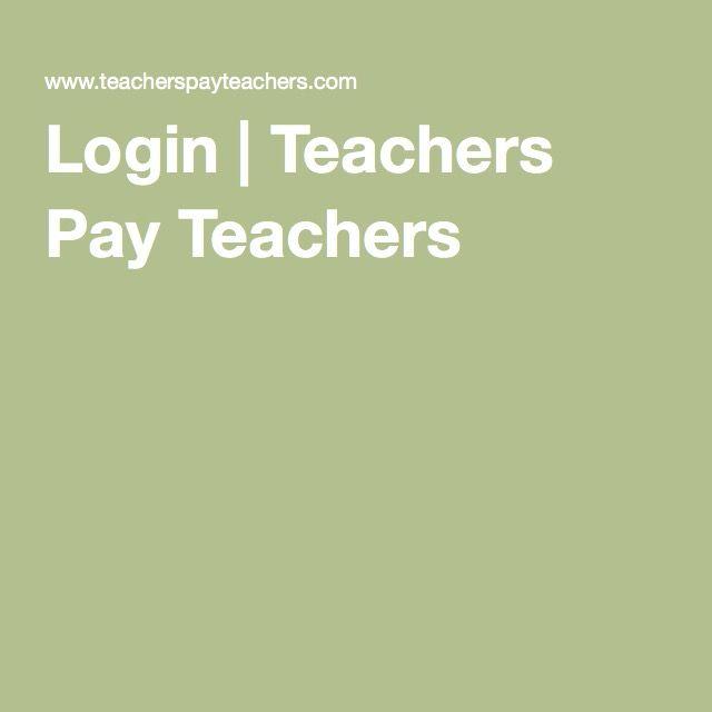 teachers pay teachers login