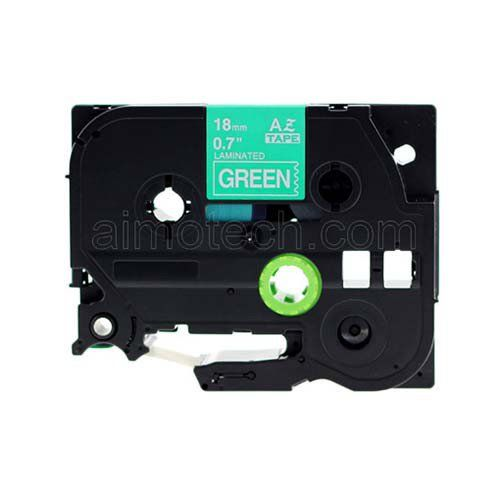 "Brother TZe-745 18mm (0.75"") White on Green Compatible Label Tape"