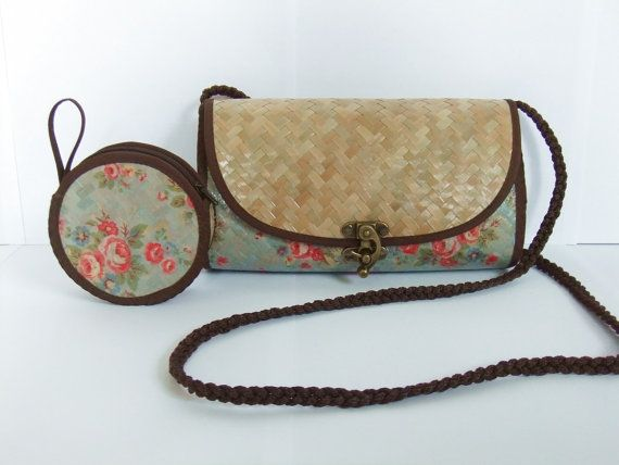 sedge used differenty and printed  Set of Small Shoulder Bag/Clutch&Little Coin Purse by Homedecorner, ฿670.00