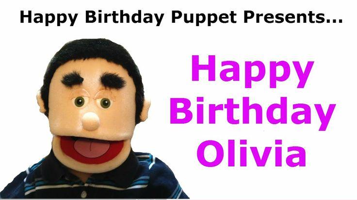 Funny Happy Birthday Video - TAGS: happy birthday olivia, song happy birthday, funny birthday song, happy birthday puppet, happy birthday, happy birthday to you