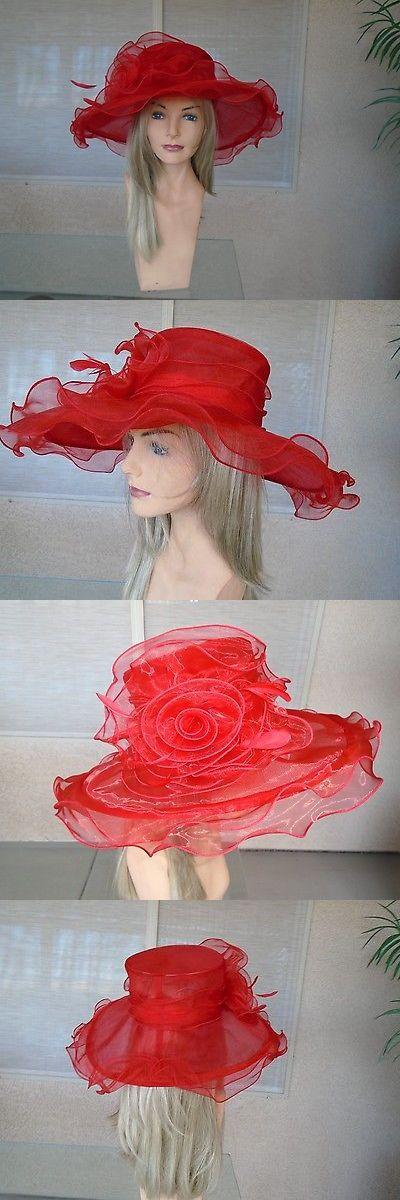 Womens Formal Hats 131476: Roter Kentucky Derby Hut -> JETZT KAUFEN: $ 34.99 bei …  – Womens Formal Hats 131476