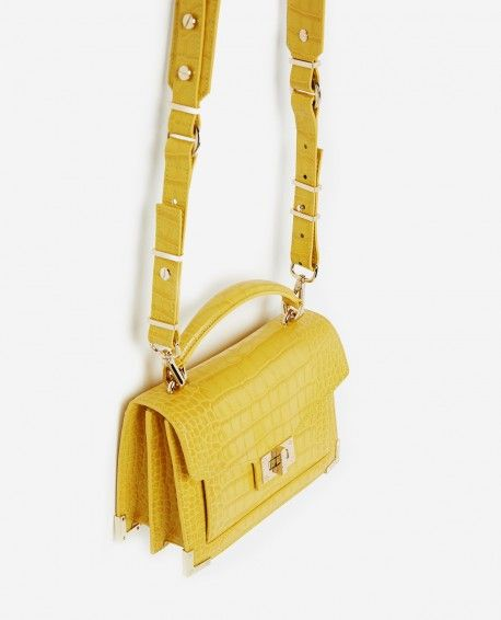 14ecd93bb5e0 MINI EMILY BAG IN YELLOW MOCK CROC - Collection THE KOOPLES