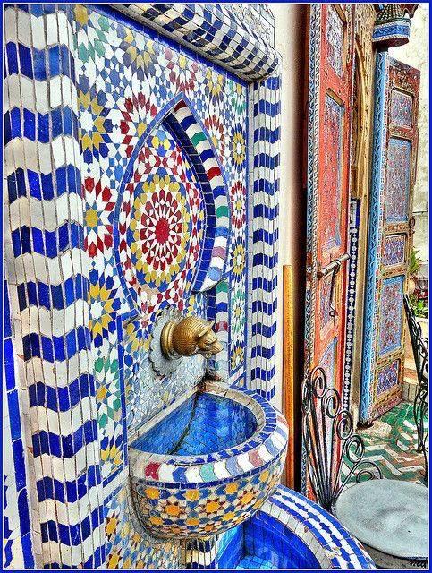 Fuente azul de Marruecos