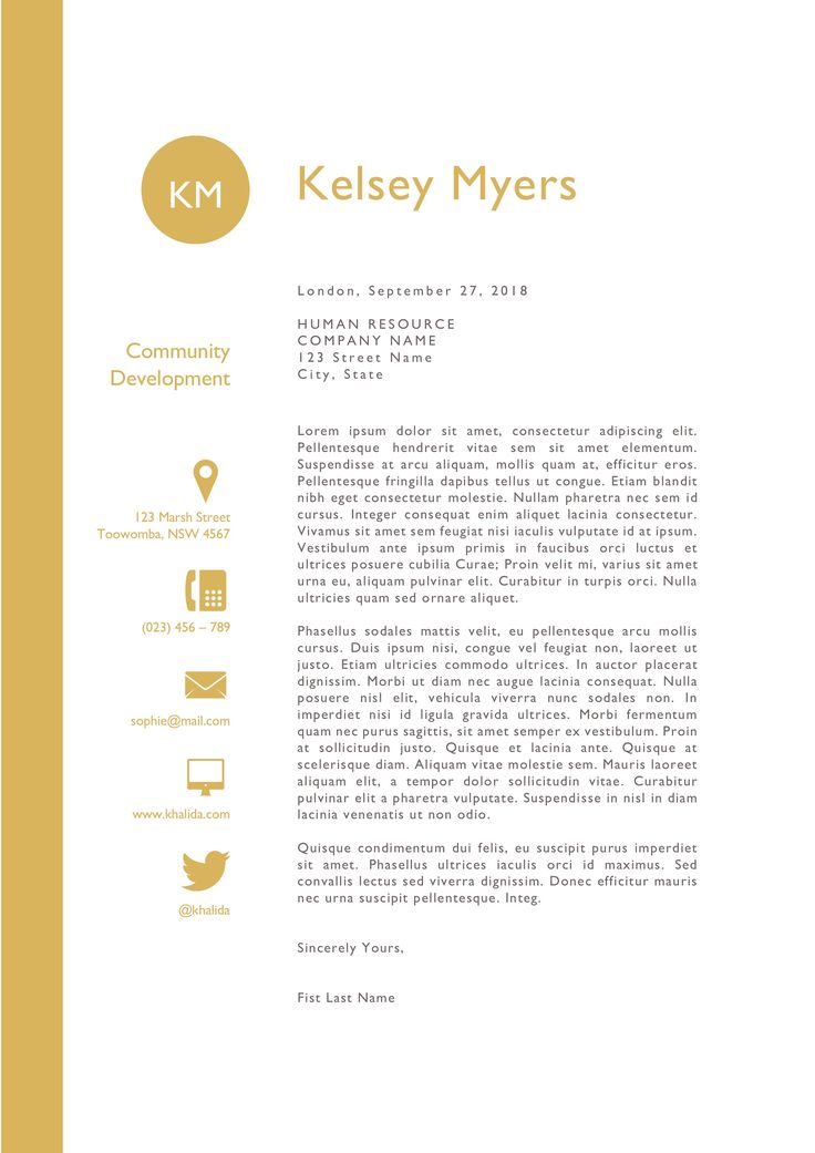 Two columns round initials resume Downloadable resume