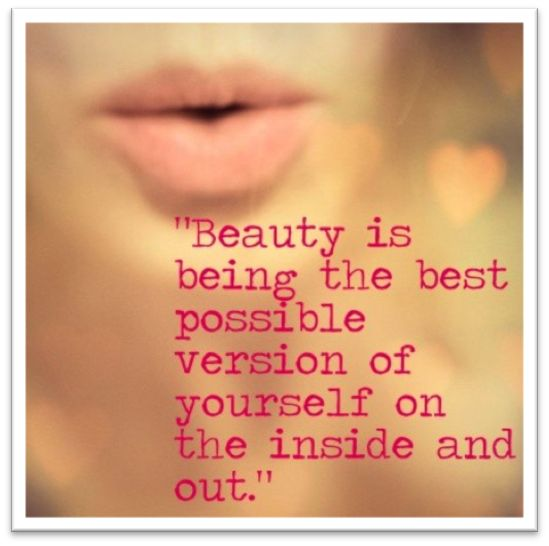 Image result for beauty from the inside out