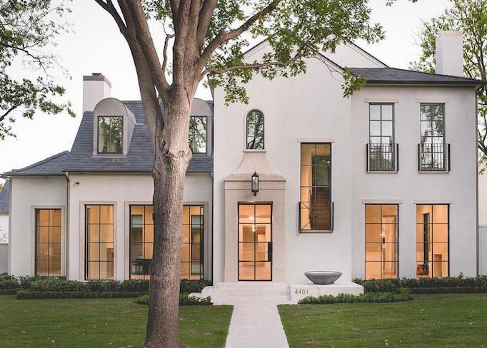 Captivating 14 Stunning Exteriors With Steel Frame WindowsBECKI OWENS. Exterior WindowsExterior  HomesColonial ExteriorDifferent StylesDifferent ...
