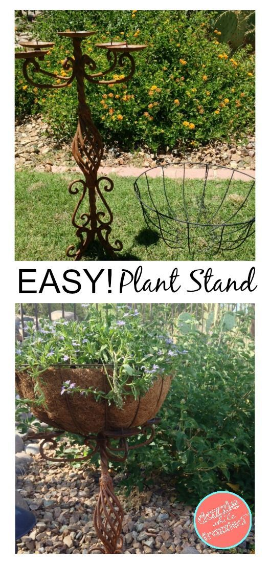 Candelabra Garden Planter Outdoor Plant Stand DIY Decor Gardening Ideas