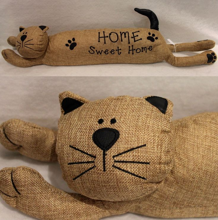 Hessian Cat Draft Stopper