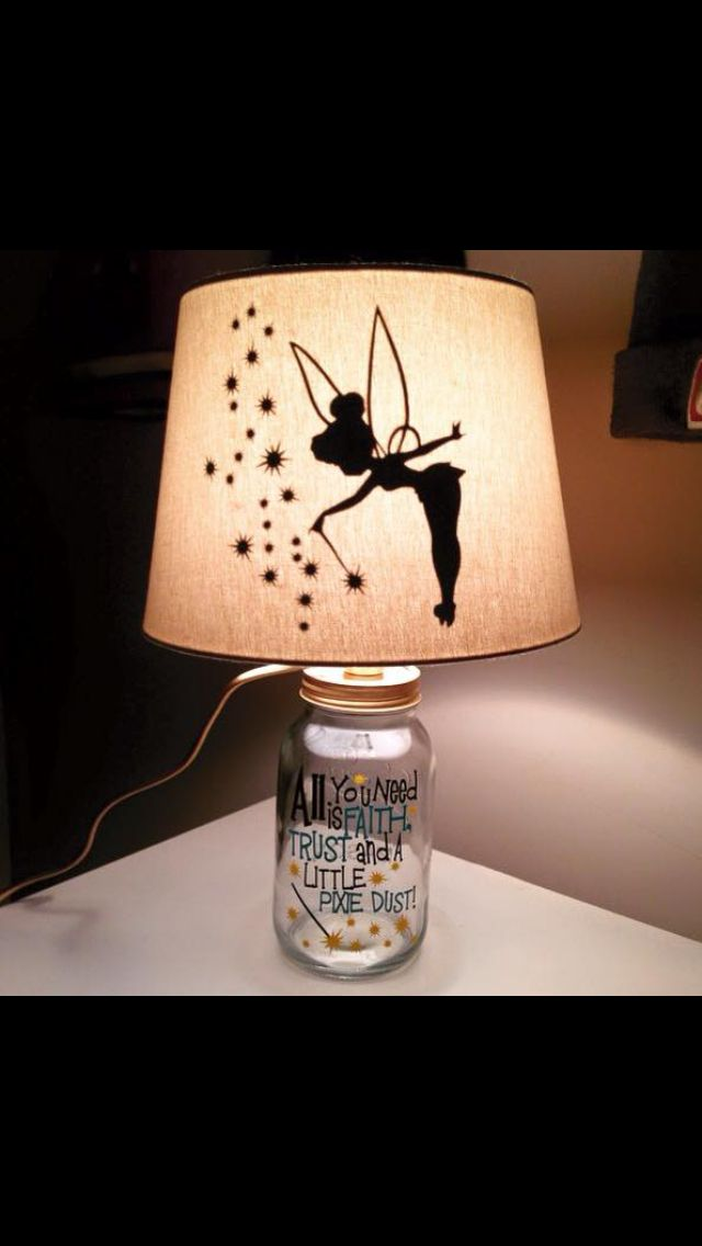 Pin by Yvonne bass on Tink  Disney lamp Tinkerbell