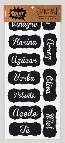 Etiquetas para frascos en argentineria.com