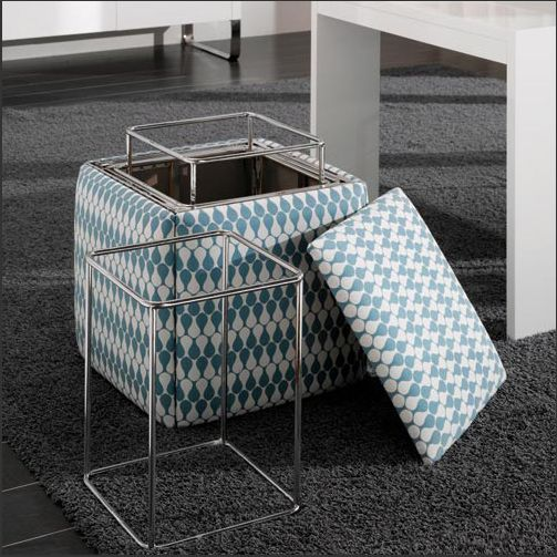 Ottoman Turns Into Chair