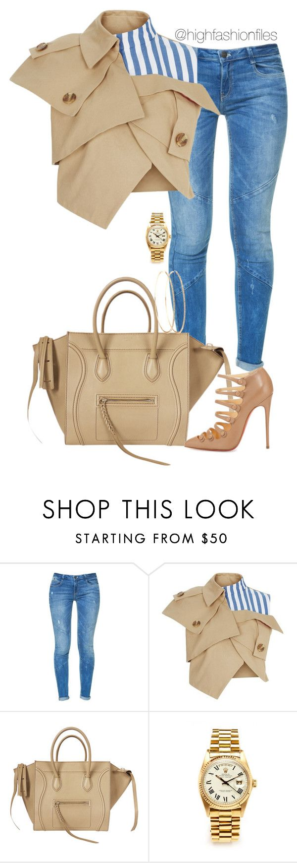 """""""Eiffel Tower"""" by highfashionfiles ❤ liked on Polyvore featuring Zara, A.W.A.K.E., CÉLINE and Rolex"""